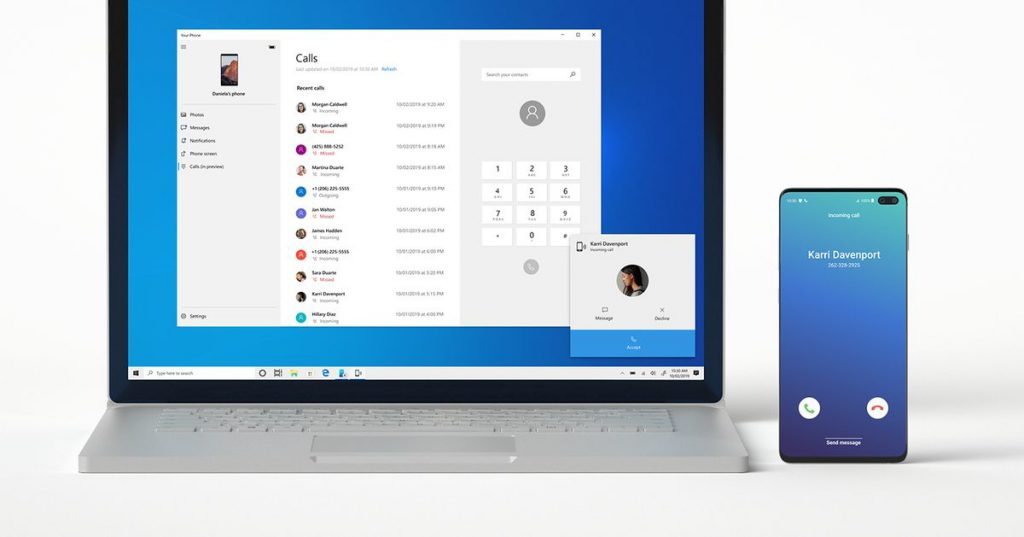 how you can make and obtain calls in your PC with the Your Phone app
