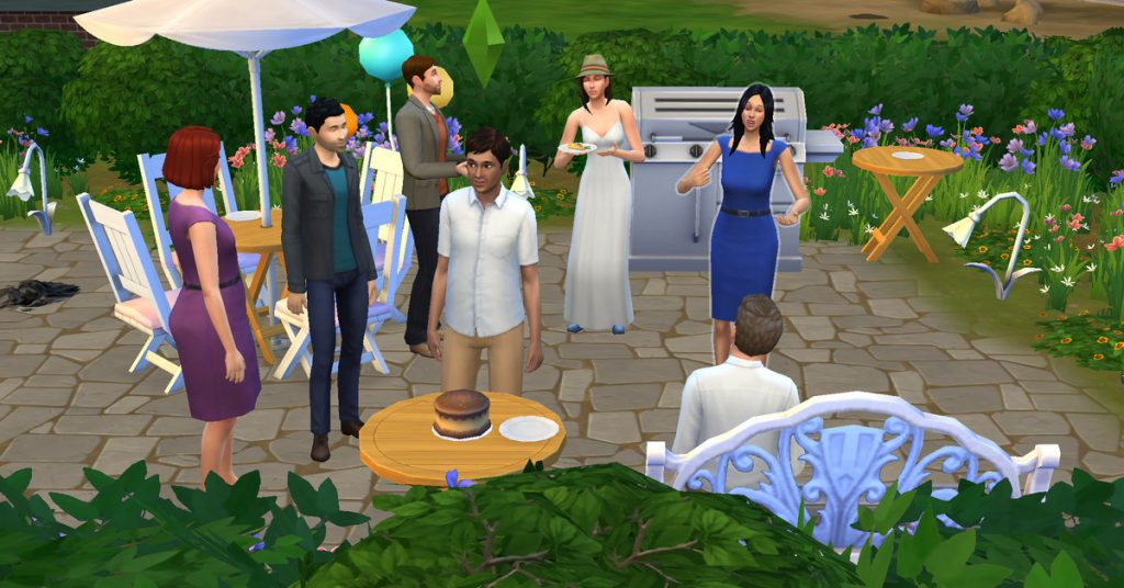 I threw my boyfriend his birthday party on the Sims because we couldn't have one in actual life