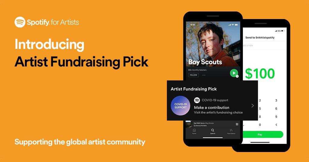 Musicians can now hyperlink out to their very own fundraisers on their Spotify touchdown pages
