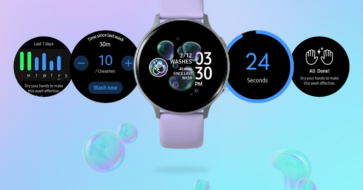 Samsung's smartwatches get a hand-washing reminder and timer app