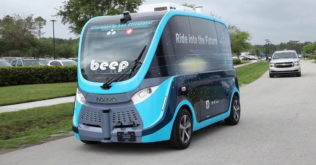 Supervised self-driving shuttles are shifting COVID-19 assessments in Florida