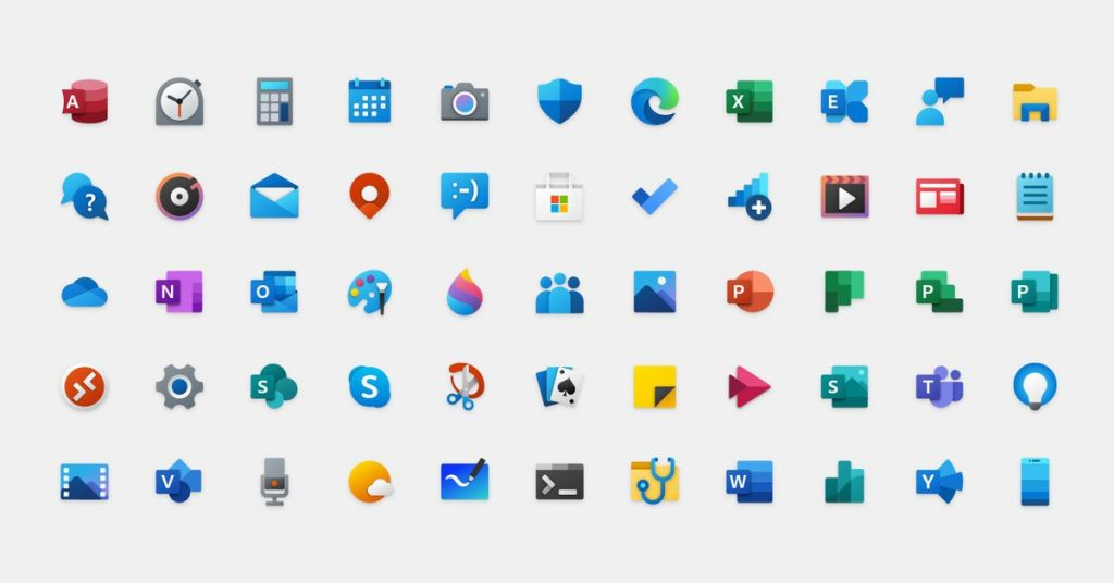 this is how Microsoft designed its new colourful Windows 10 icons