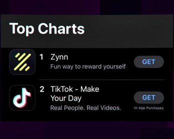 A new TikTok clone hit the top of the App Store by paying users to watch videos