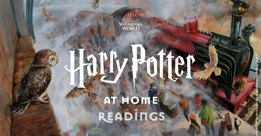Daniel Radcliffe and others are studying chapters of Harry Potter and the Thinker's Stone on video