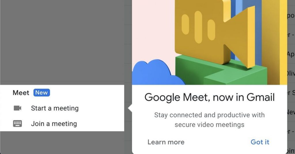 Google Meet begins rolling out in Gmail, proceeding Google's quest to unseat Zoom