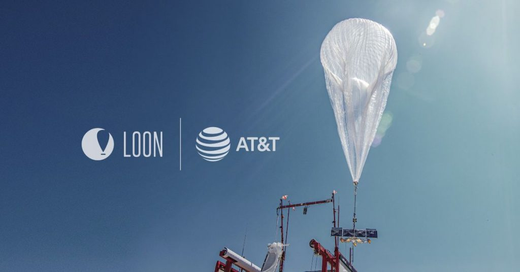 Loon companions with AT&T to ready internet balloons for disasters globally