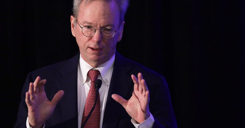 Pass read this record on what Eric Schmidt's been up to since he left Google