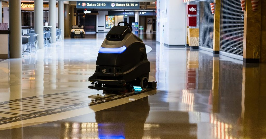 Pittsburgh's airport is the primary in the US to make use of UV-cleansing robots
