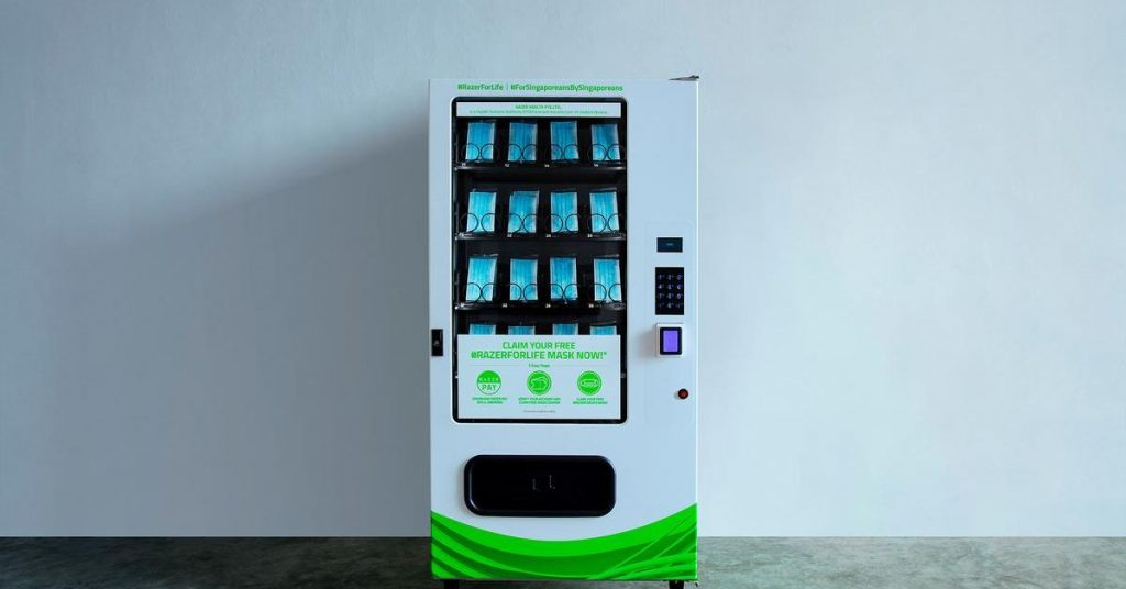 Razer will use face masks vending machines to distribute thousands and thousands of face masks in Singapore