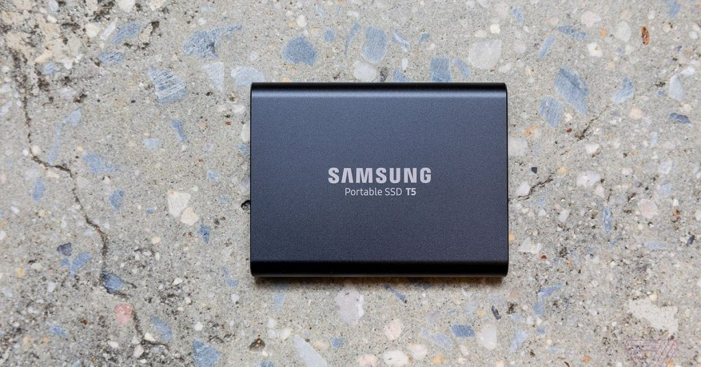 Samsung's transportable T5 USB-C SSD is cheaper than ever lately