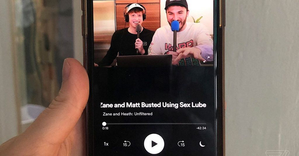 Spotify is trying out video podcasts with two YouTube stars