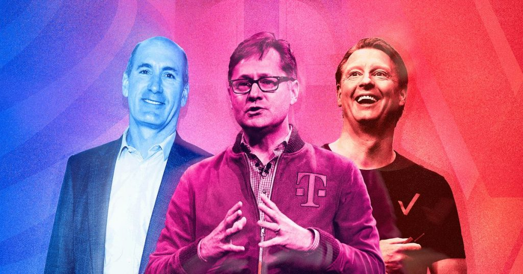 The New elegance of CEOs at Verizon, AT&T and T-Cellular