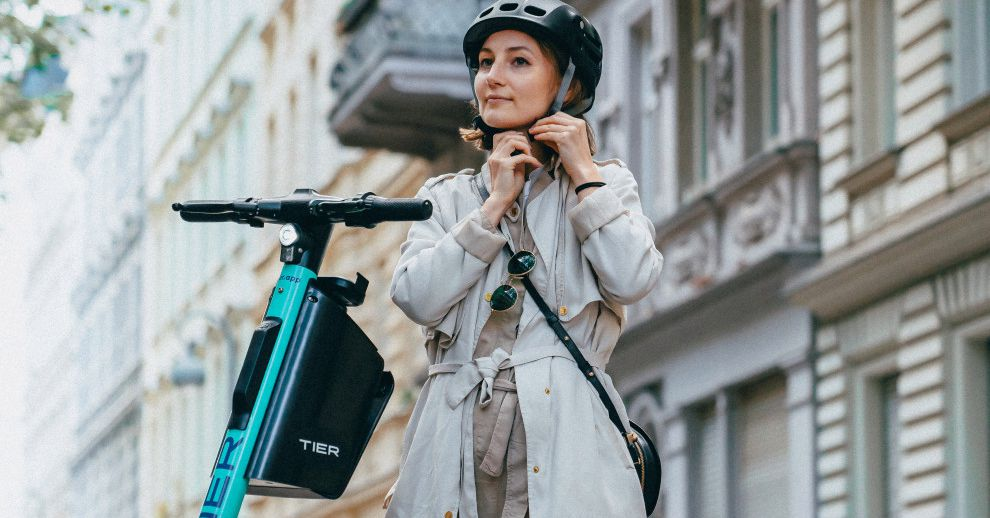 Tier's shared electrical scooters will soon come with foldable helmets