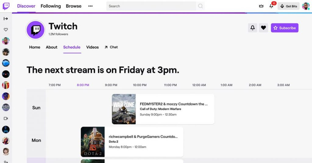 Twitch's channel pages get a brand new glance