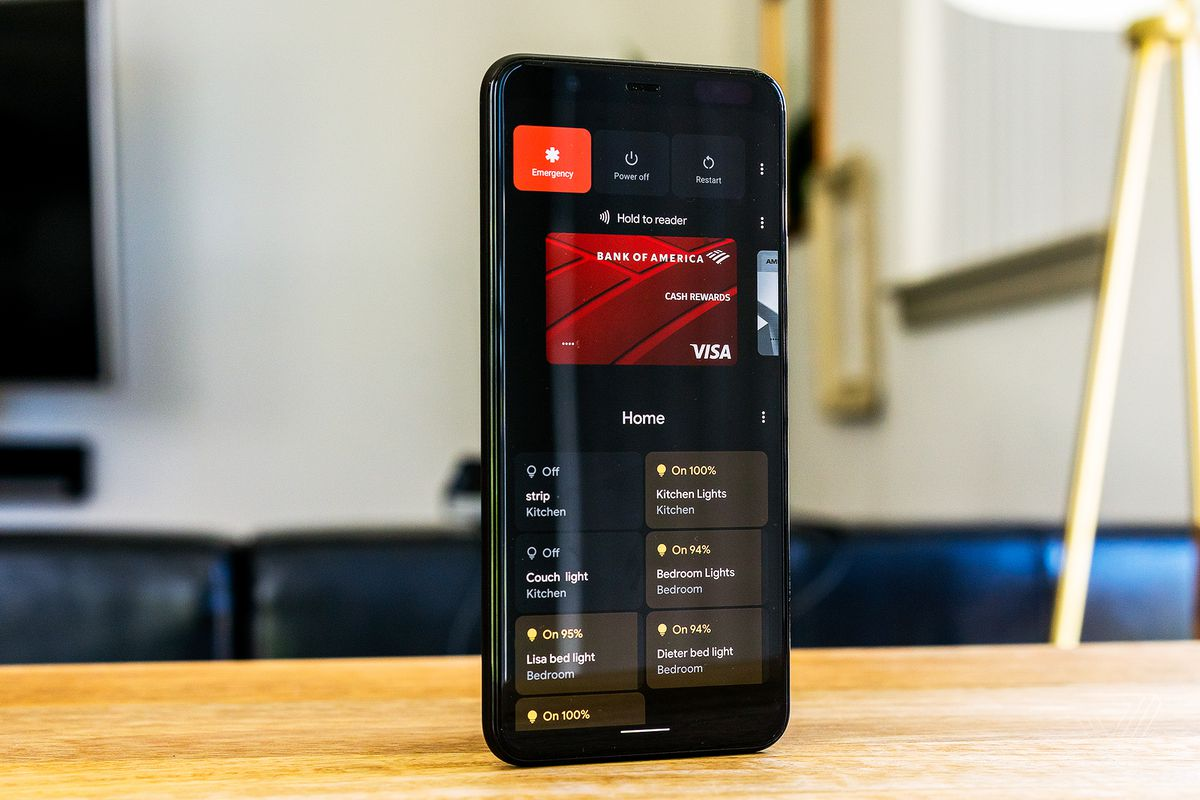 Android 11's power menu adds smart home controls.