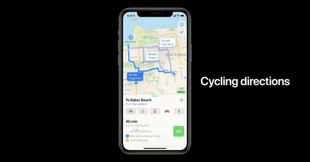 Apple adding cycling directions and EV routing to Maps in iOS 14