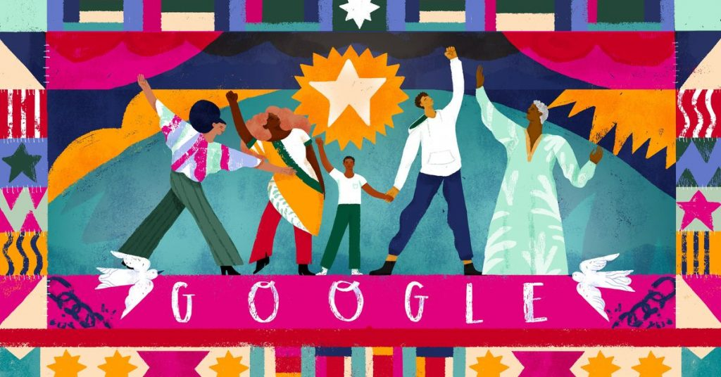 Google Doodle celebrates the 155th anniversary of Juneteenth