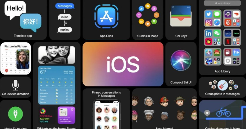 iOS 14 has a new home screen with widgets, a redesigned Siri view, and more