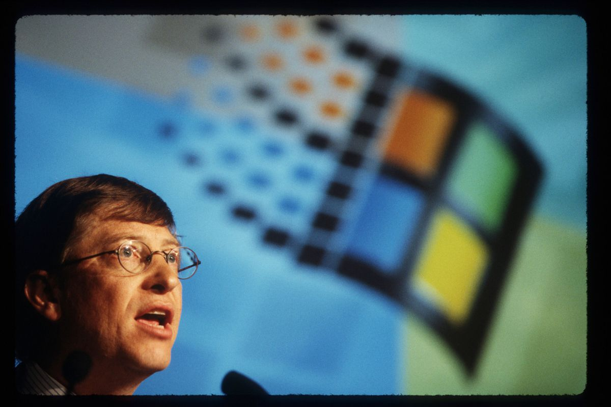 Bill Gates At Antitrust Press Conference
