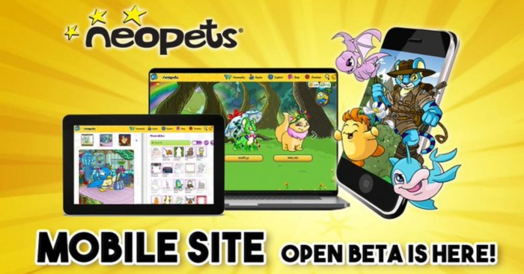 Neopets launching open beta for a new mobile site