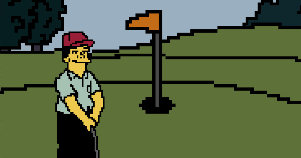 The Simpsons' iconic Lee Carvello's Putting Challenge now exists as a playable game