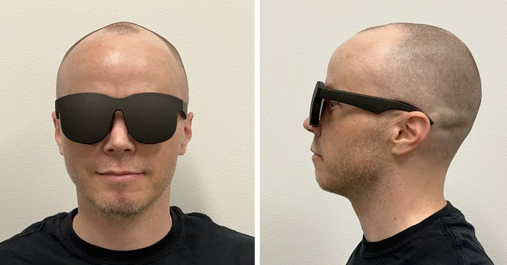 Facebook's newest proof-of-concept VR headset looks like a pair of sunglasses