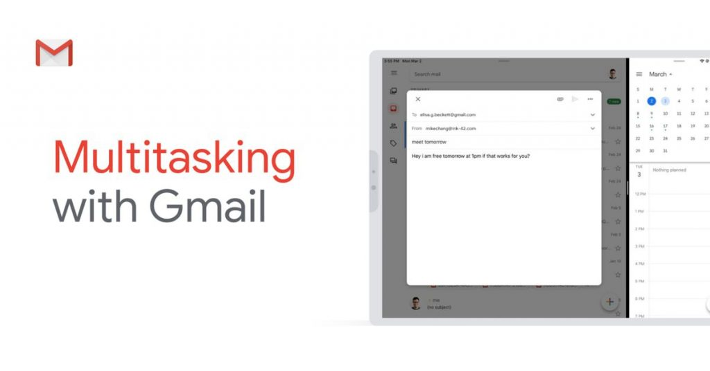 Gmail for iPad now supports split-view multitasking