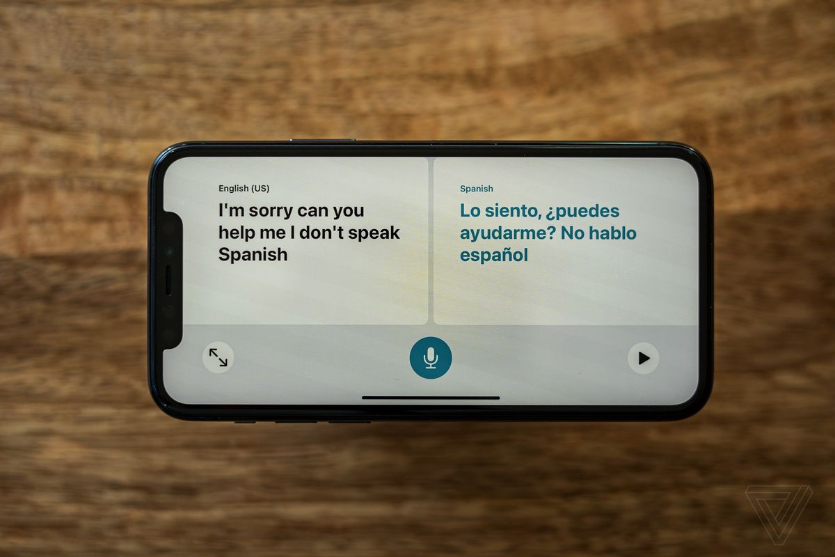 The new Translate app from Apple