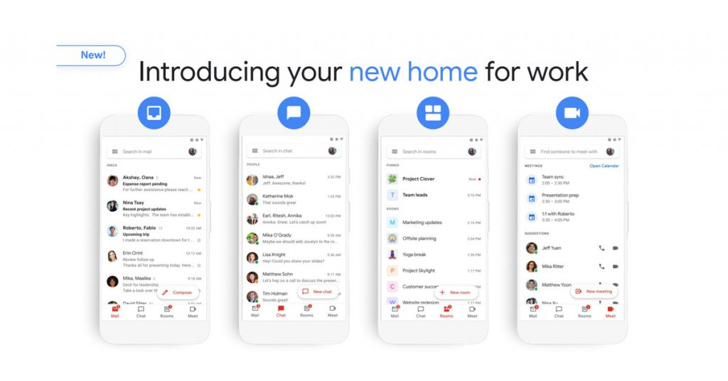 Leaked Gmail redesign integrates Chat, Meet, and document collaboration in one place