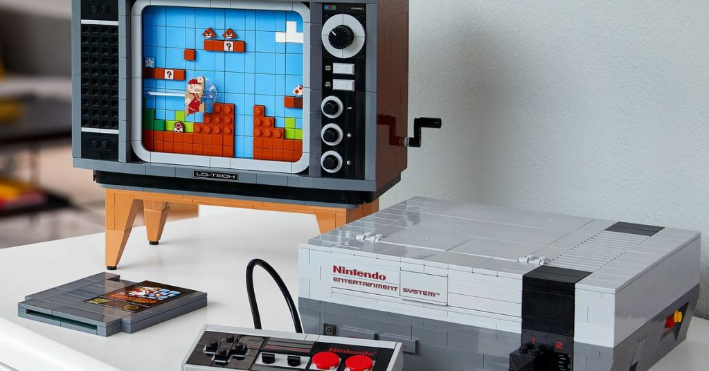 Lego made a 2,600-piece replica of playing Mario on the NES
