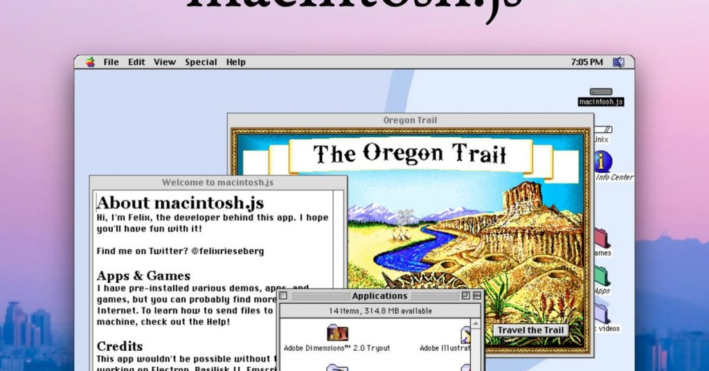 Mac OS 8 is now an app you can download and install on macOS, Windows, and Linux
