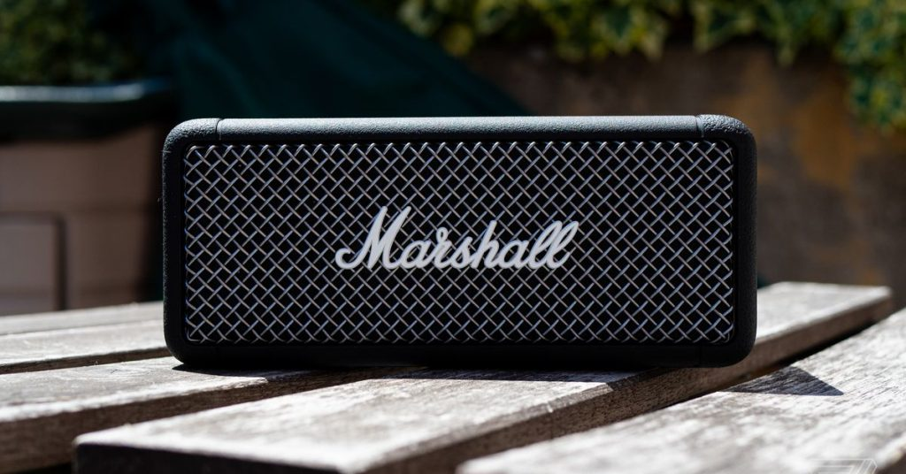 Marshall's Emberton is a basic but brilliant Bluetooth speaker