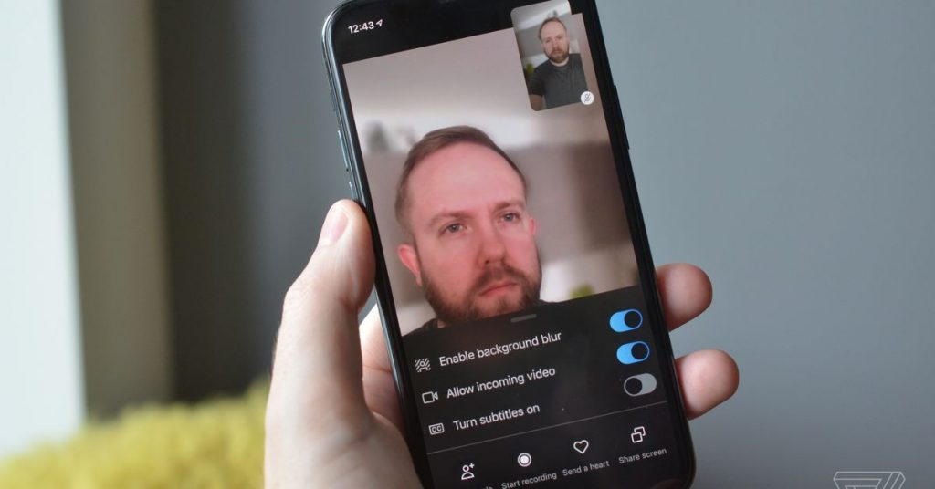 Skype for iOS now lets you hide messy rooms with background blur