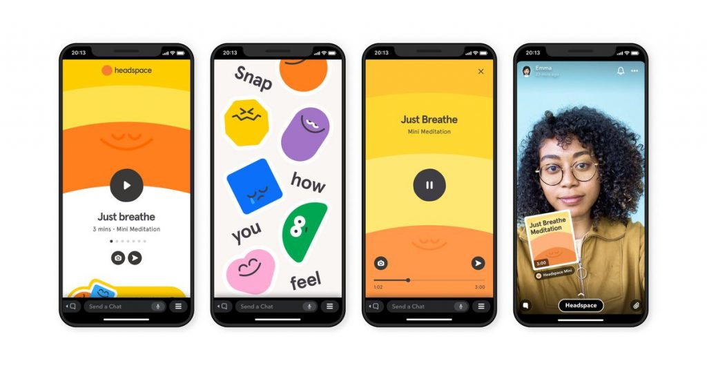 Snapchat rolls out the first of its Mini apps with meditations from Headspace
