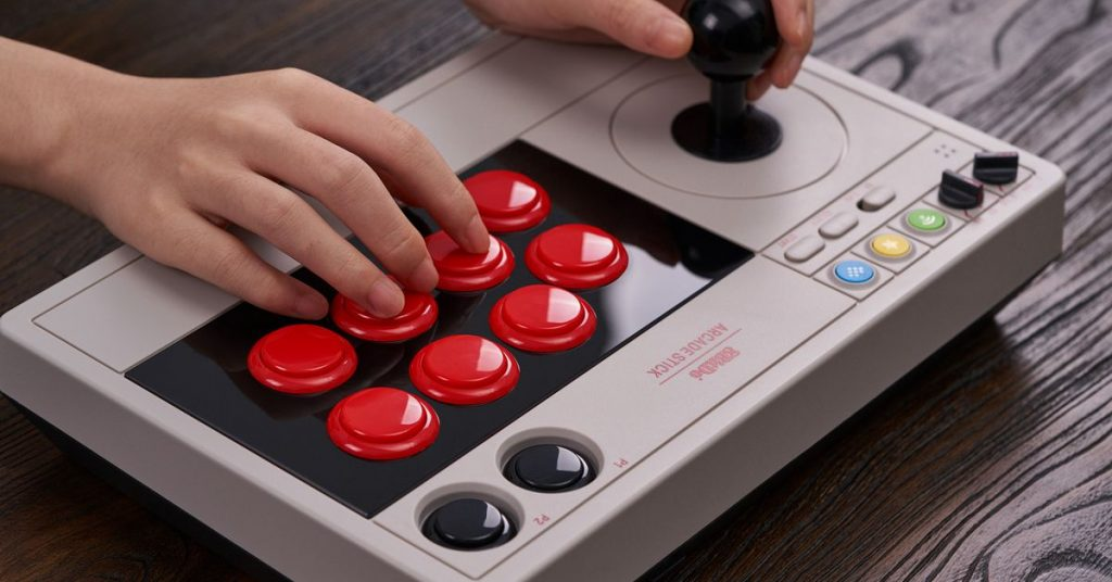 8BitDo made a mod-friendly, wireless arcade stick for the Nintendo Switch and PC