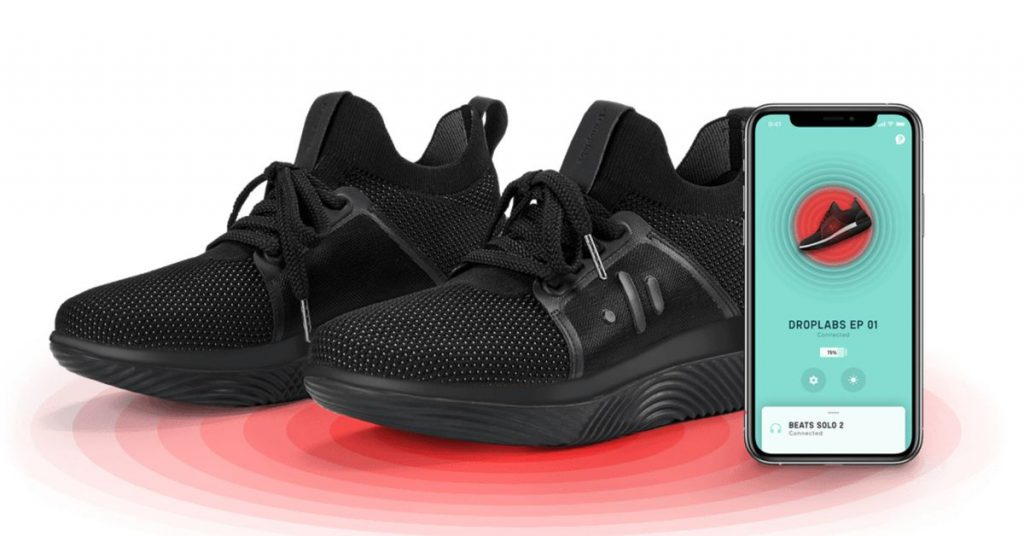 DropLabs' pulsating Bluetooth-enabled shoes are available in a new color