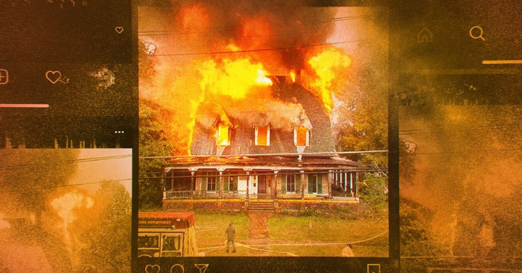 Houses are influencers now, and this one burned to the ground