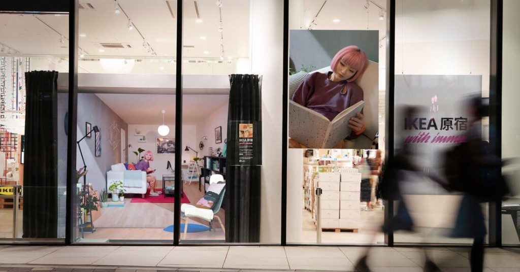 Ikea turned a virtual influencer into a physical installation