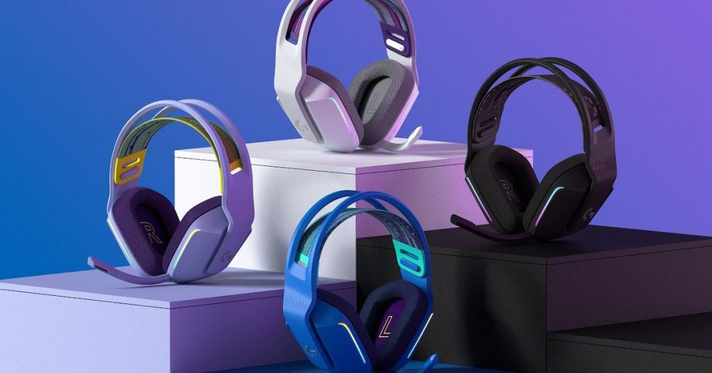 Logitech's new colorful G733 wireless gaming headset can make your desk less drab