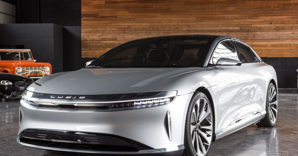"""Lucid Motors boasts it will have """"the fastest charging electric vehicle ever offered"""""""
