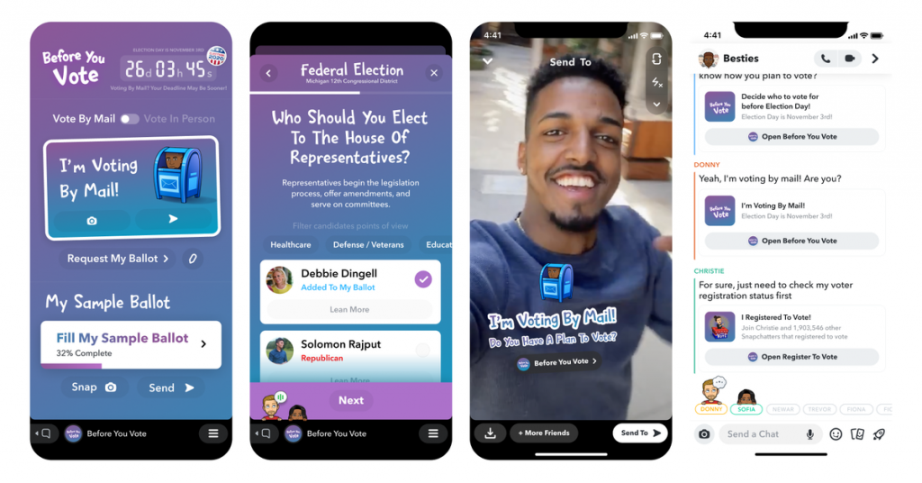 Snapchat is planning in-app voter awareness tools to help get its users ready for November