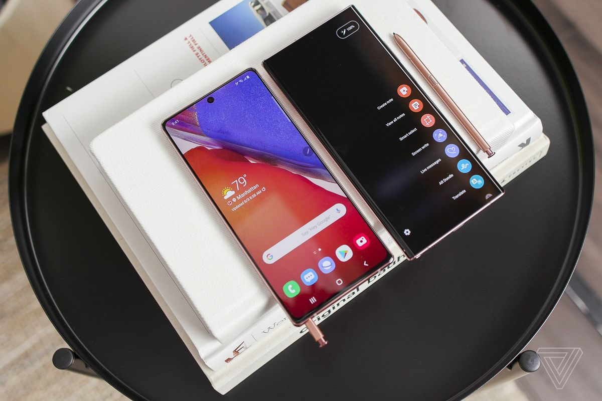 The Galaxy Note 20 and Galaxy Note 20 Ultra.