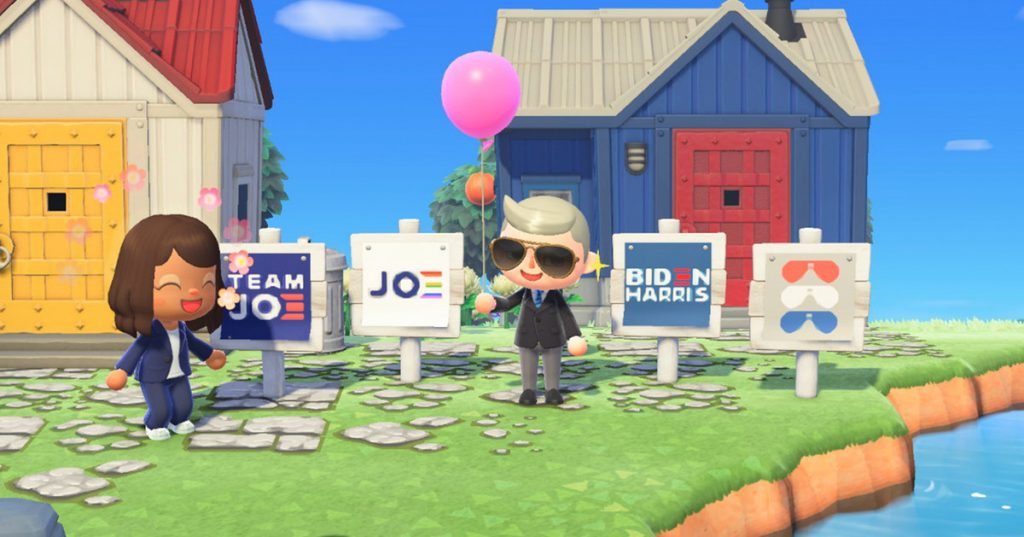 Biden campaign launches official Animal Crossing: New Horizons yard signs