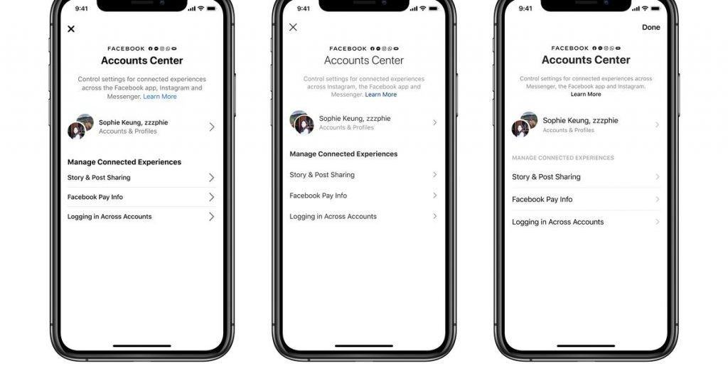 Facebook's Accounts Center will unify login and payment info across Facebook properties