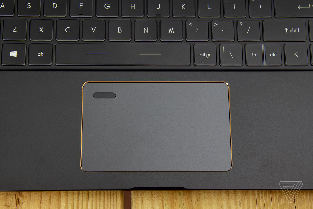 The MSI Summit E15's touchpad.