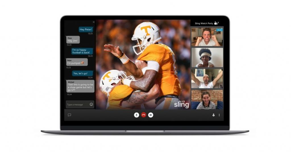 Sling TV launches its own watch party feature for live TV