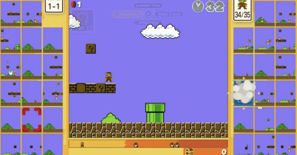 Super Mario Bros. 35 turns classic Mario gameplay into a 35-person battle royale