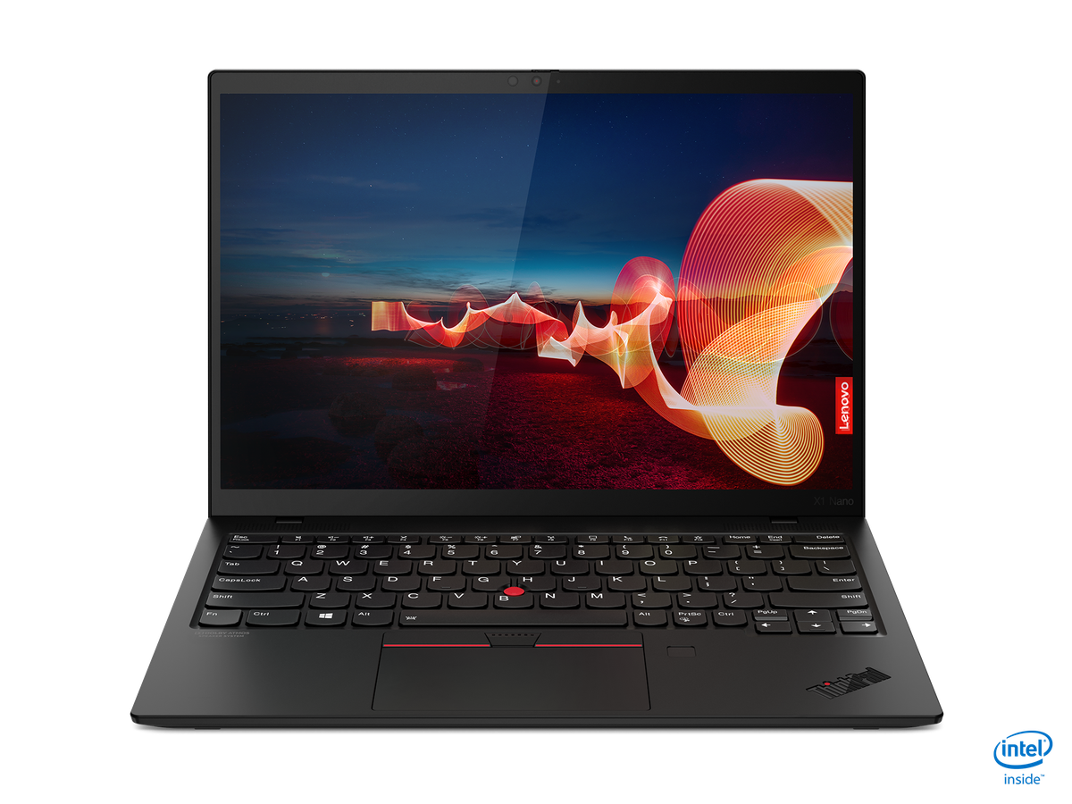 The ThinkPad X1 Nano open from the front.