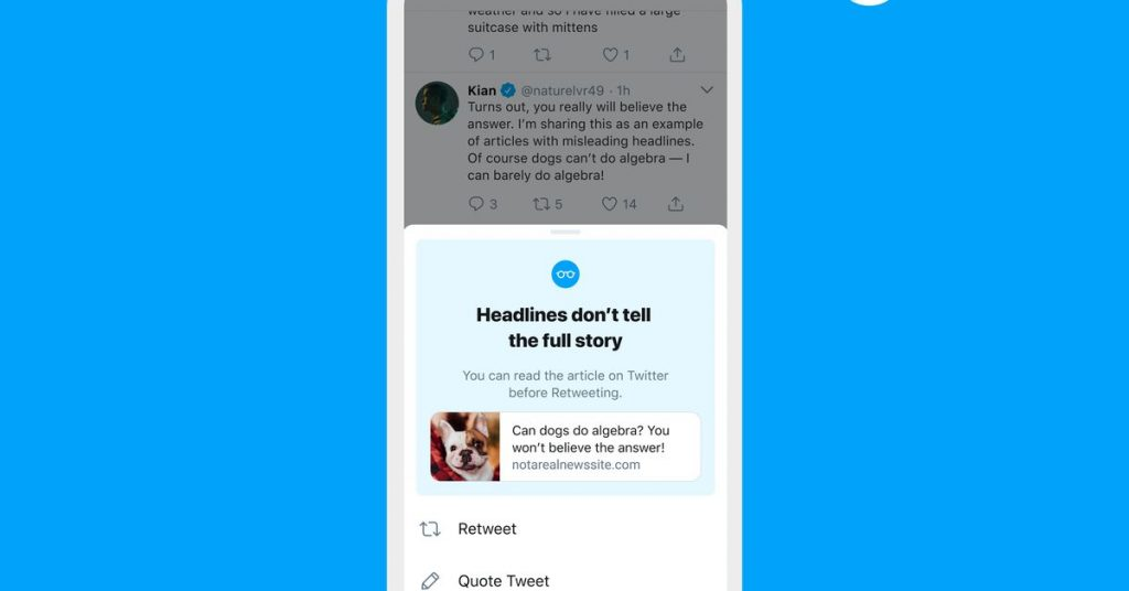 Twitter is bringing its 'read before you retweet' prompt to all users