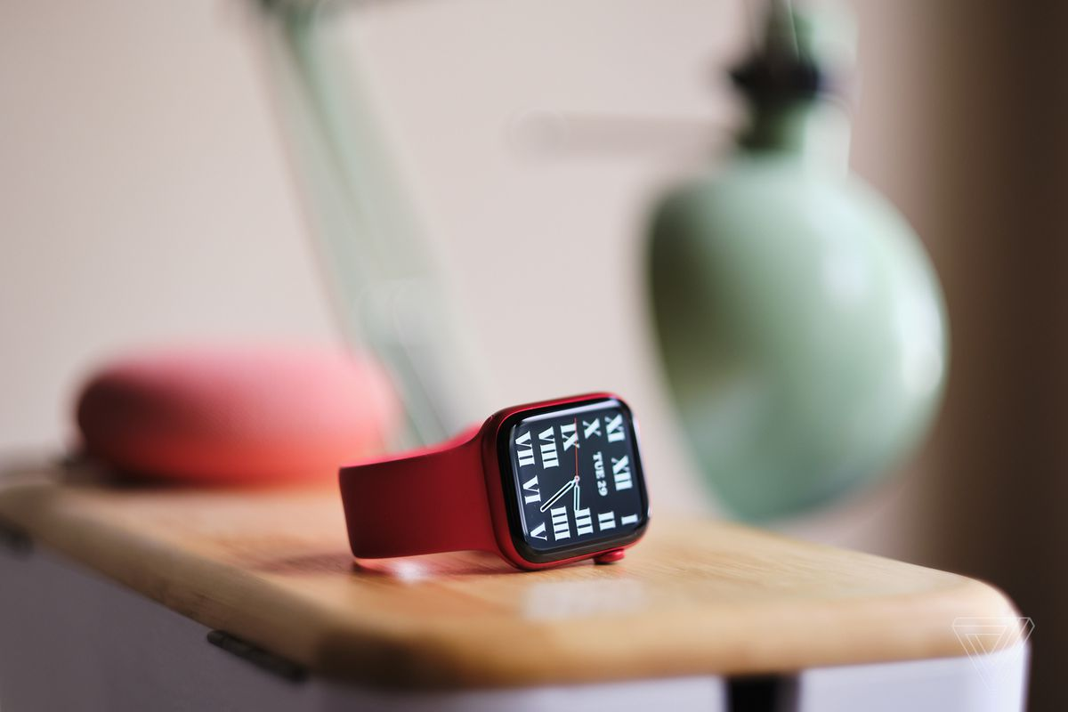 The Apple Watch Series 6, in Product Red